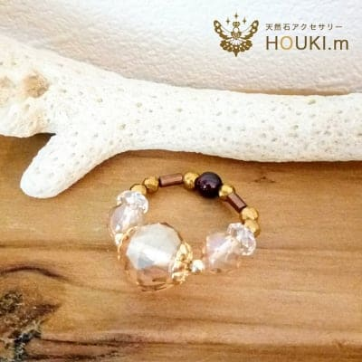 指輪 (中)|天然石リング|ゴールデン水晶|HOUKI.m|サイズ調整できます