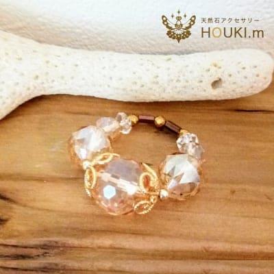 指輪(大)|天然石リング|ゴールデン水晶|HOUKI.m