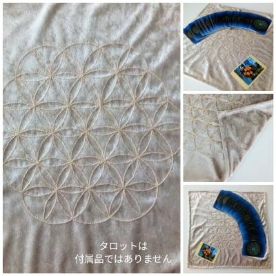 受注生産|手作り タロットマット|フラワーオブライフ(手縫い)
