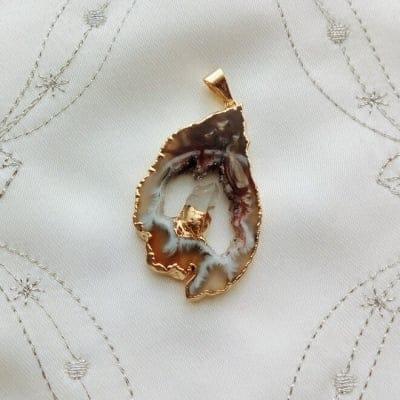瑪瑙ペンダントトップ|天然石|瑪瑙|水晶|②