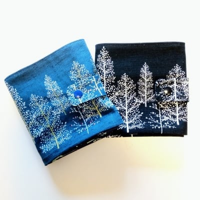 6ポケットケース 森林柄 全2カラー ブルー or 紺 ボイジャータロット...