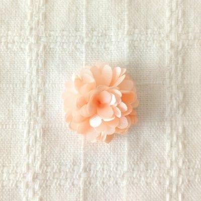 2個入り| 花フラワー 32mm オレンジ | 手芸ハンドメイド