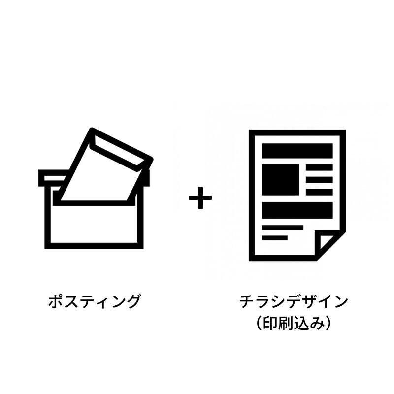 【H樣専用】ポスティング+チラシデザイン(印刷込) 決済用チケットのイメージその1