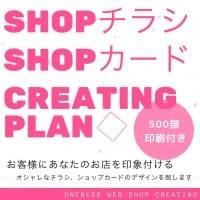 デザイン製作+500部印刷17,500円税込/SHOPチラシorSHOPカード製作プラン