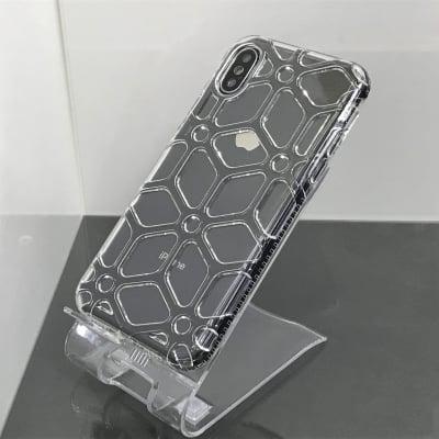 送料無料▪️iPhoneX★対応★♪スポーティーな立体網目デザインのケース♪ X-147(BK)