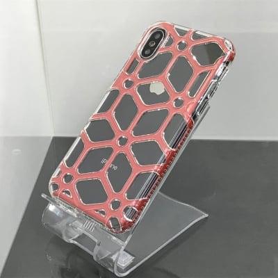送料無料▪️iPhoneX★対応★♪スポーティーな立体網目デザインのケース♪ X-147(RD)