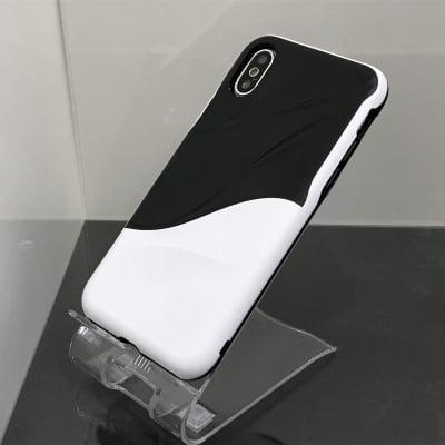 送料無料▪️iPhoneX★対応★♪躍動感あるウェーブデザインのケース♪ X-198(WH)