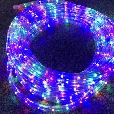 NEW!!格安LEDロープライト(オーロラ)直径11mm取扱い始めました!!ショップや自宅アプローチ縁取りにオススメです♪(1m単位)