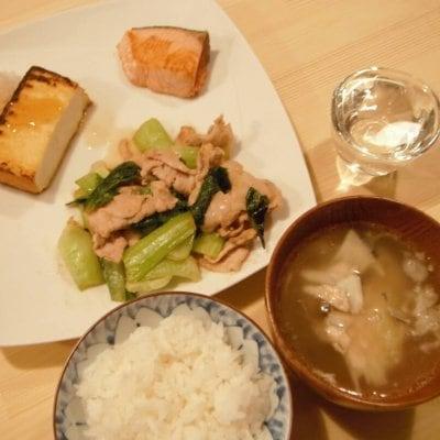 【店舗払い限定】夜定食〜3種類のおつまみとごはんとお味噌汁つき〜