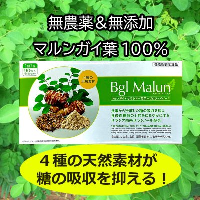 マルンガイ(モリンガ)+サラシア+菊芋+プロファイバー「Bgl Malun」