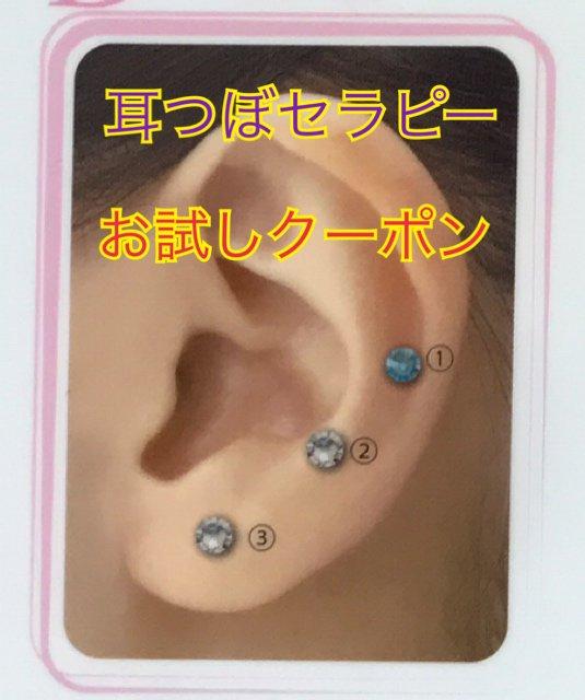 ☆お試しクーポン☆耳つぼセラピー体験 1000円(特許取得 耳つぼ刺激 透明シール)のイメージその1