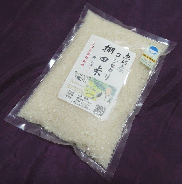 お土産に最適/500g(3合)魚沼産コシヒカリ/棚田米のイメージその1