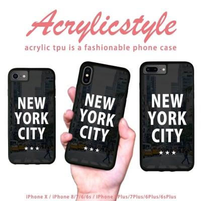 iPhone 7 8 X ケース ニューヨーク NEW YORK(街中デザイン)