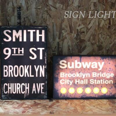 【ブルックリンスタイル】LEDサインライト|インテリア<SMITH/SUBWAY>