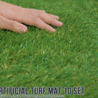 【ベランダリフォーム!!オシャレなお庭作りに最適♪】リアル人工芝生ジョイントマット(10枚入り)|ガーデン|ガーデニング|