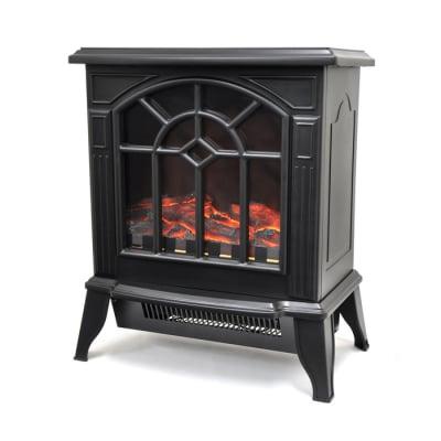ベルソス 暖炉型ファンヒーター(ブラック)