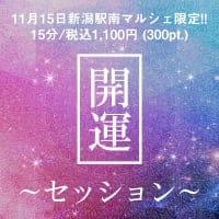 【11月15日新潟駅南マルシェ限定】開運セッション/15分税込み1,100円/高ポイント付き‼︎