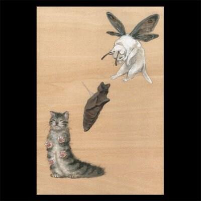 ポストカード【猫蛾の変態】2枚セット