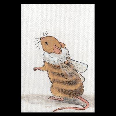 ポストカード 【ハチネズミ1】2枚セット