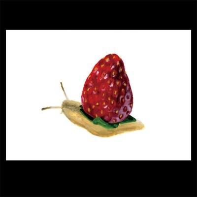 ポストカード【苺でんでん】2枚セット