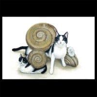 ポストカード【猫でんでん2】2枚セット