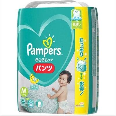 【Mサイズ74枚】パンパース さらさらケア(パンツ)ウルトラジャンボ P&G おむつ