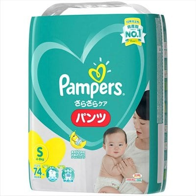 【Sサイズ74枚】パンパース さらさらケア(パンツ)スーパ−ジャンボ P&...