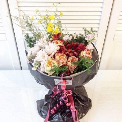 陰陽六行フラワー Happy gift ブーケスタイル