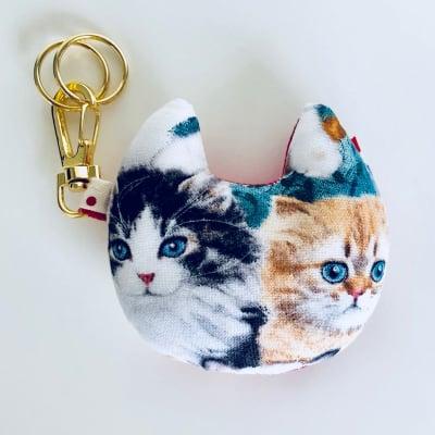 可愛い猫型キーホルダー Two cats①