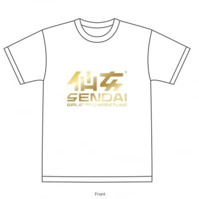 仙女定番Tシャツ【ホワイト×ゴールド】