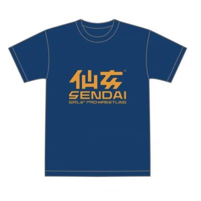 仙女定番Tシャツ(ネイビー×オレンジ)