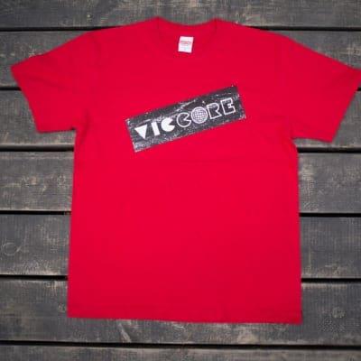 viccore ボックスロゴT RED
