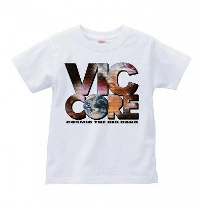 viccore 宇宙ロゴTシャツ WHITE