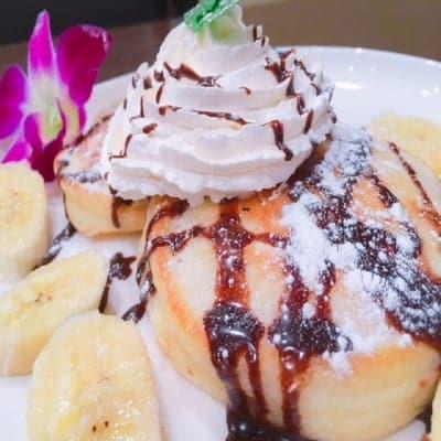 超お得【店頭払い専用】200P付ナッツのクリーム・チョコバナナパンケーキ800円