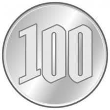 【店頭支払専用】100円玉のイメージその1