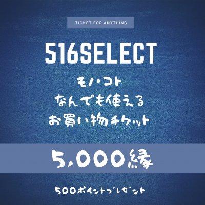 516select☆モノ・コトお買い物チケット5,000縁(モノは現地受け取りのみ)