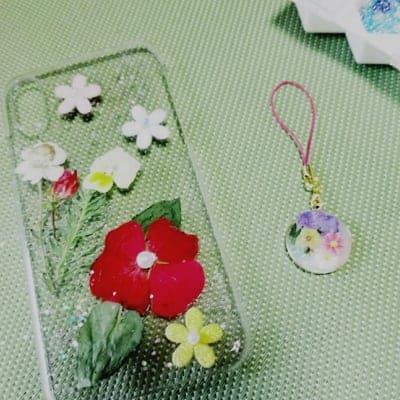 押し花で手作りスマホケース作ろう!東京葛飾区初心者でも可愛く作れる!プレゼントにもおすすめ