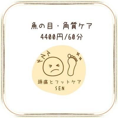 魚の目・角質ケア 4400円/60分