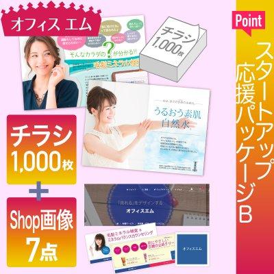 【パッケージB】チラシ+ショップ画像7点