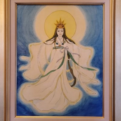 天照大神(額縁入り)日本画コピー