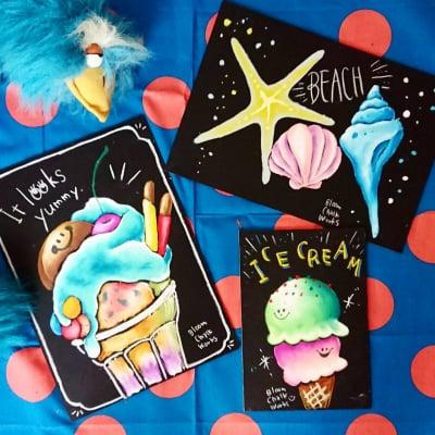 【店頭払いのみ】【夏休み企画】ブルームチョークワークスのチョークアート ミニレッスン