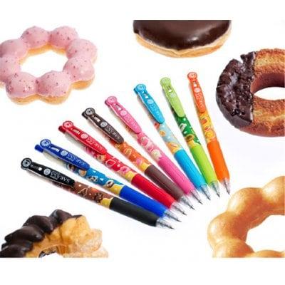 ゼブラ【ミスタードーナツ】サラサ クリップ 0.5mm 1本(黒、ピンク、ライトブルー、ライトグリーンより選べます)