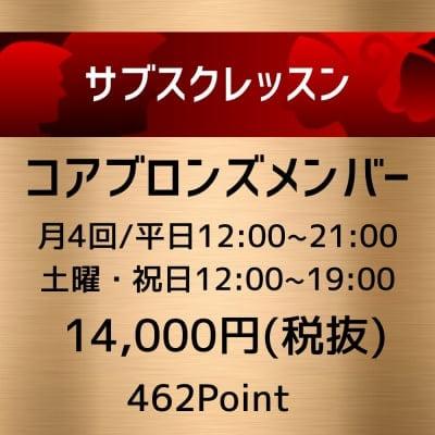 【定額制】サブスクレッスン!!コア・ブロンズ会員専用ウェブチケット