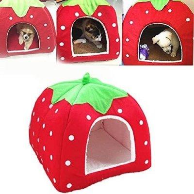 【超高ポイント還元】 小動物用ペットハウス ベッド 寝袋としても利用可能 可愛いかまくら・ドーム型 ケージ アクセサリー ハウス