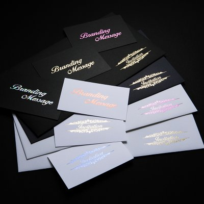 【特別な人に特別な1枚を…】箔押しメッセージカード 100枚(名刺サイズ)