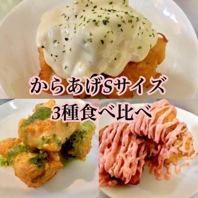 【店頭よりお得】からあげSサイズ(100g約4個程度)3種食べ比べチケット