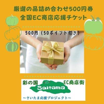 厳選の品詰め合わせ500円券全国EC商店応援チケット