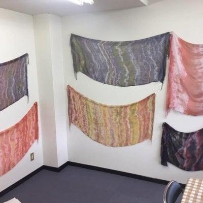 8月20日・夏のおもしろアート塾inサカドフラット「布を染める」