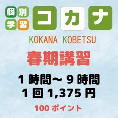 【現地払い専用】春季講習1時間〜9時間1コマ