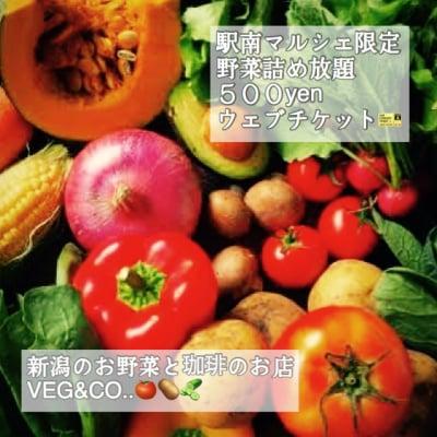 駅南マルシェ限定!野菜詰め放題500円